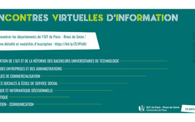 Rencontres virtuelles avec l'IUT !