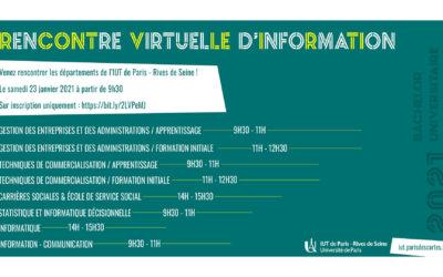 Rencontre virtuelle avec l'IUT de Paris !